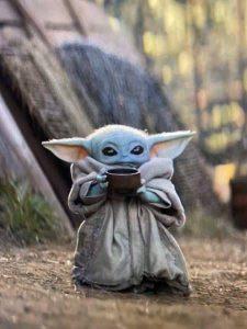 Baby Yoda in The Mandalorian on Disney Plus